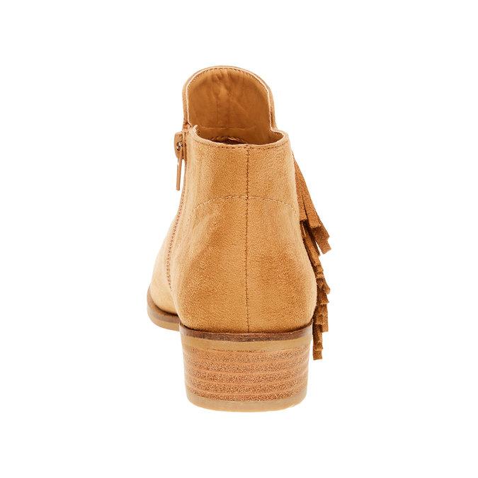 Členkové čižmy s trblietkami bata, hnedá, 599-3102 - 17