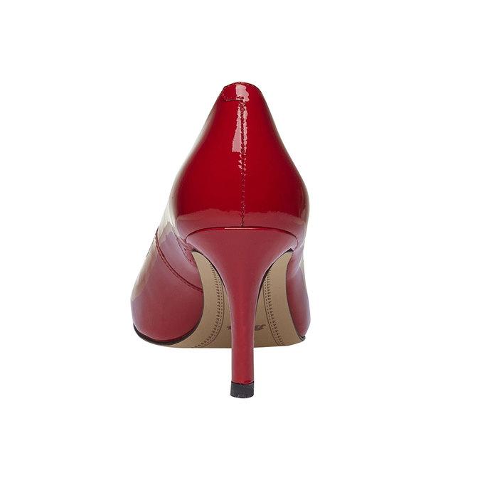 Červené kožené lodičky bata, červená, 728-5953 - 17