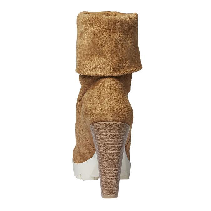 Členkové čižmy s výraznou podrážkou bata, hnedá, 799-8632 - 17