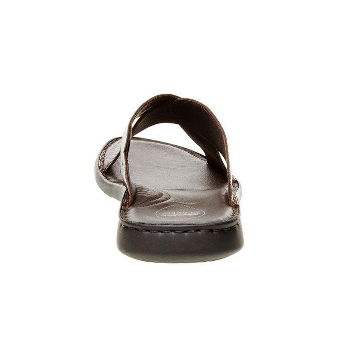 Pánske kožené nazúvaky comfit, hnedá, 874-4161 - 17