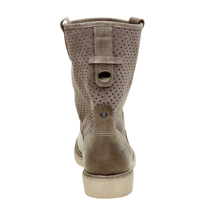 Dámske topánky z brúsenej kože weinbrenner, hnedá, 596-9102 - 17