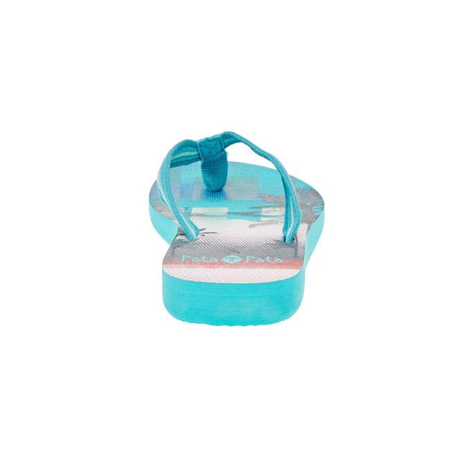 Dámske žabky pata-pata, modrá, 581-9600 - 17