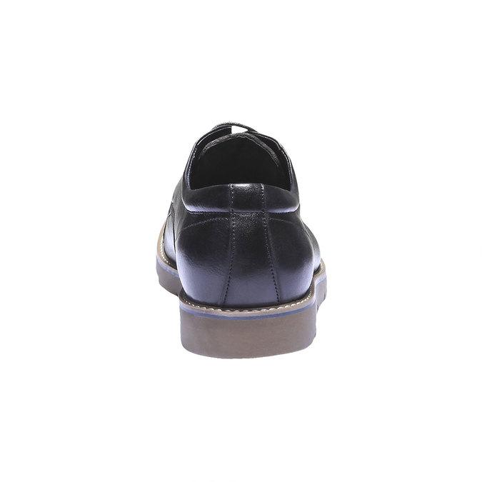 Poltopánky z kože bata, čierna, 824-6197 - 17