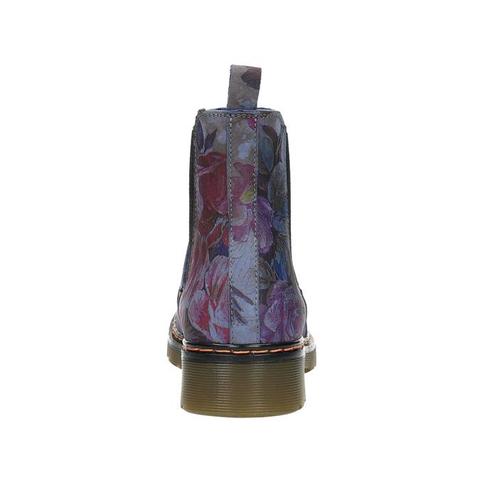 Kožené Chelsea Boots s kvetinovým vzorom bata, modrá, 596-9620 - 17