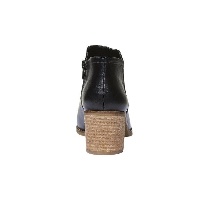 Členkové čižmy bata, čierna, 691-6271 - 17