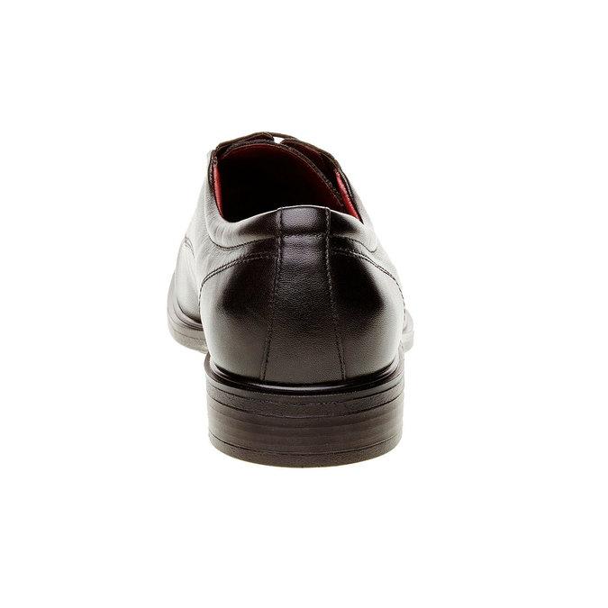 Kožené Pánske poltopánky bata-comfit, čierna, 824-6933 - 17