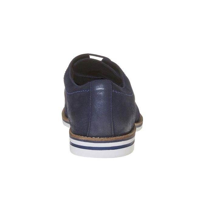 Ležérne kožené poltopánky bata, modrá, 826-9642 - 17