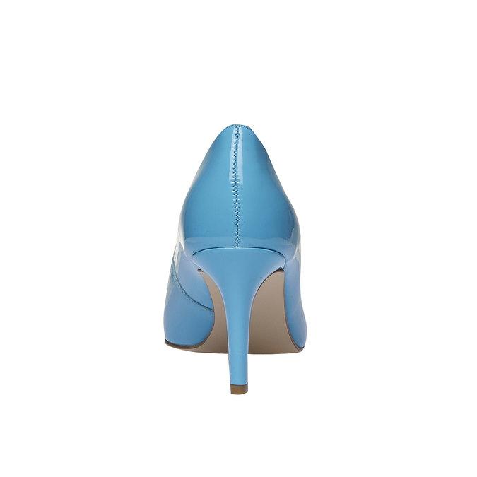 Modré kožené lodičky bata, modrá, 728-9955 - 17