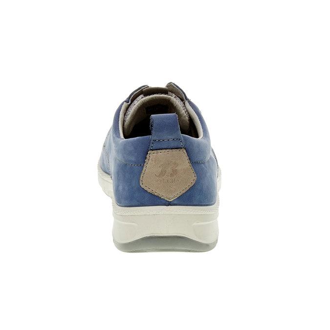 Ležérne kožené poltopánky, modrá, 843-9630 - 17