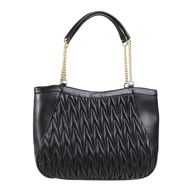 Dámska kabelka v Tote štýle bata, čierna, 961-6319 - 26