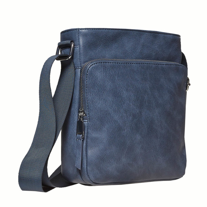 Pánska Crossbody taška bata, modrá, 961-9783 - 13