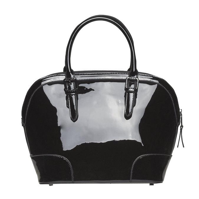 Lakovaná dámska kabelka bata, čierna, 961-6628 - 26