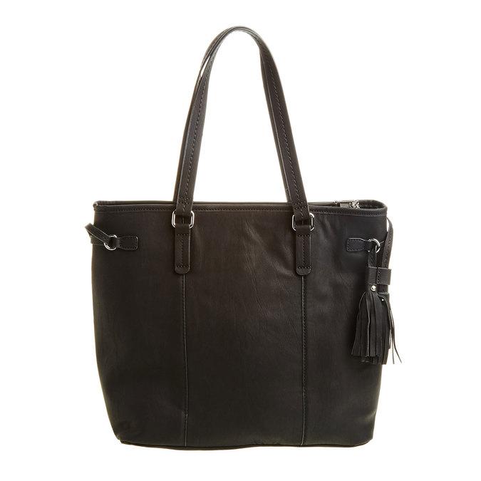 Dámska kabelka so strapcami bata, čierna, 961-6762 - 26