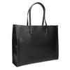 Hranatá kabelka v Shopper štýle bata, čierna, 961-6736 - 13