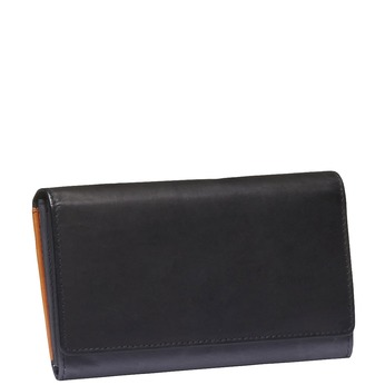 Dámska kožená peňaženka bata, čierna, 944-6156 - 13