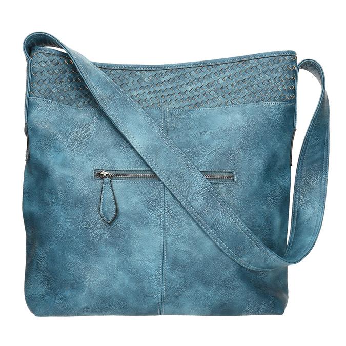 Priestorná modrá kabelka s dlhým uchom bata, modrá, 961-9600 - 26