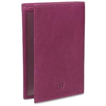 Kožené púzdro na karty bata, fialová, 944-5158 - 13