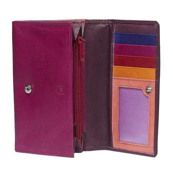 Dámska kožená peňaženka bata, červená, 944-5156 - 15