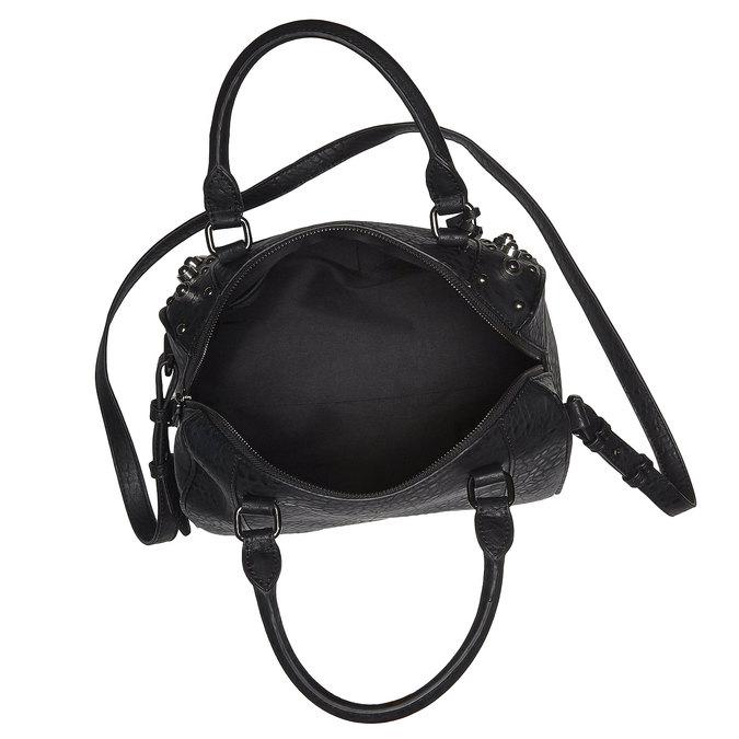 Dámská kabelka s kovovými cvočkami bata, čierna, 961-6640 - 15