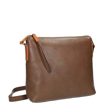 Kožená Crossbody kabelka weinbrenner, hnedá, 964-4193 - 13