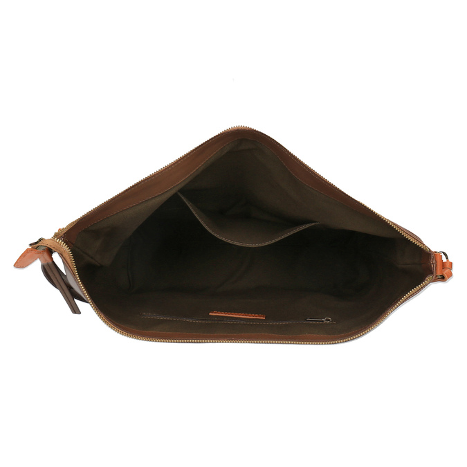 Kožená Crossbody kabelka weinbrenner, hnedá, 964-4201 - 15