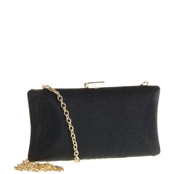 Listová kabelka v štýle Miniaudière bata, čierna, 969-6237 - 13