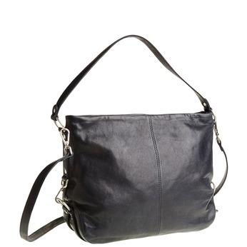 Kožená kabelka s popruhom bata, modrá, 964-9187 - 13