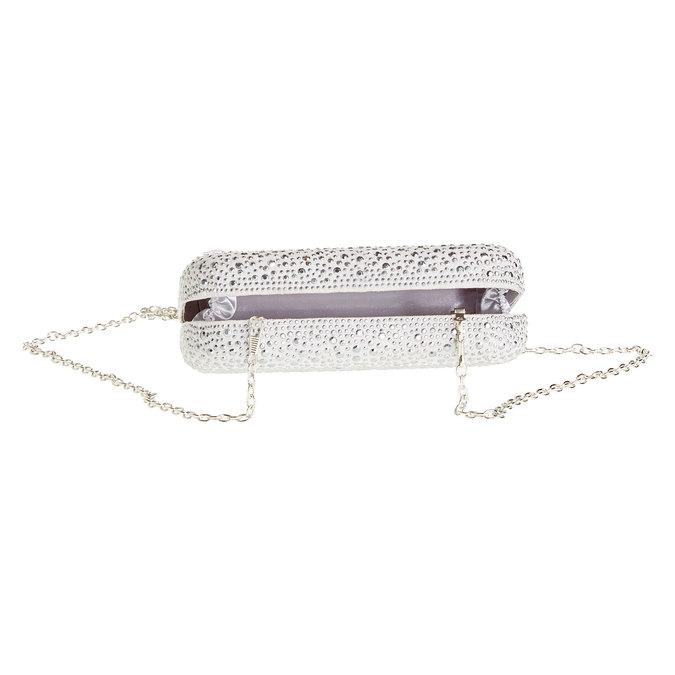 Listová kabelka v štýle Miniaudière bata, šedá, 969-2350 - 15