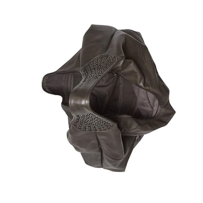 Dámská kabelka s kovovými detailami bata, šedá, 961-2231 - 15