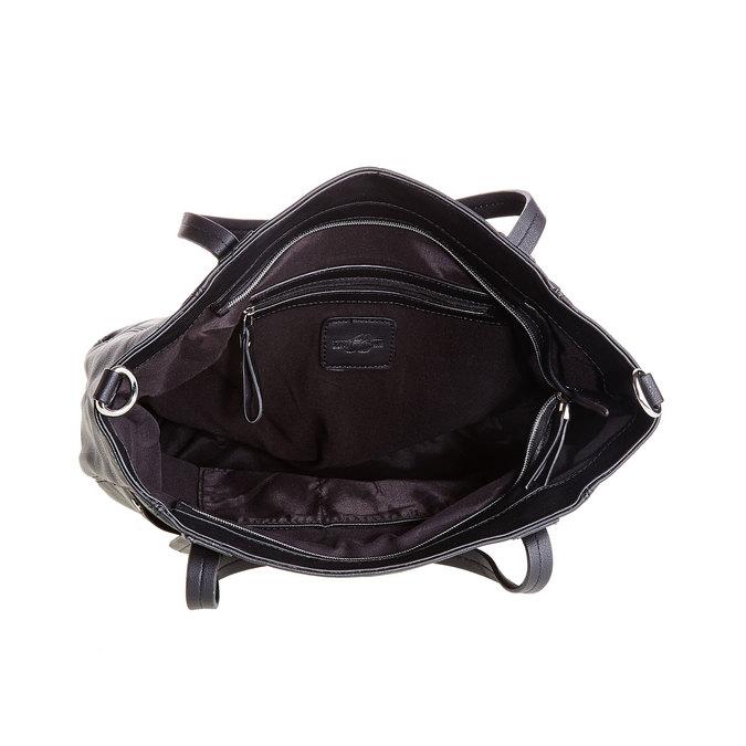 Čierna kabelka s odnímateľným popruhom bata, čierna, 961-6779 - 15