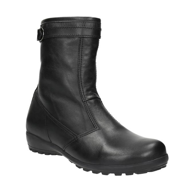 Kožená zimná obuv dámska bata, čierna, 594-6269 - 13