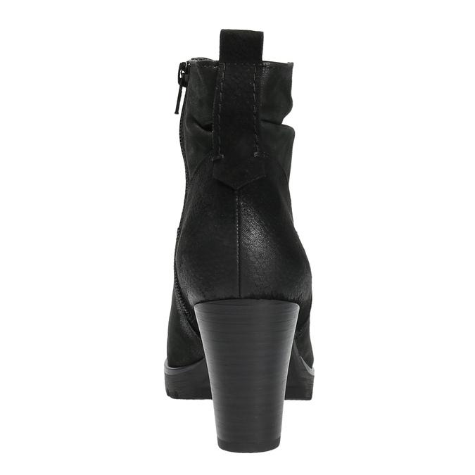 Dámska členková obuv bata, čierna, 796-6600 - 17