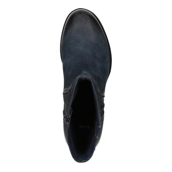 Dámska členková obuv bata, modrá, 696-9603 - 19