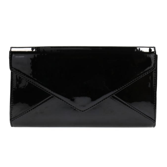 Čierna dámska listová kabelka v lakovanej úprave bata, čierna, 961-6624 - 19