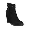 Dámska členková obuv na klínovom podpätku bata, čierna, 799-6631 - 13