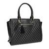Shopper kabelka s prešíváním a strapcom bata, čierna, 961-6287 - 13