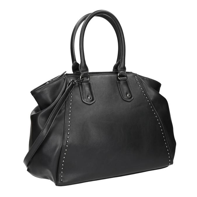 Dámska kabelka s pevnými rúčkami bata, čierna, 961-6702 - 13