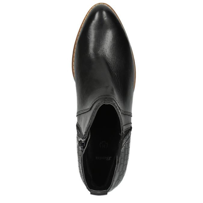 Dámska členková obuv šírky H bata, čierna, 696-6616 - 19