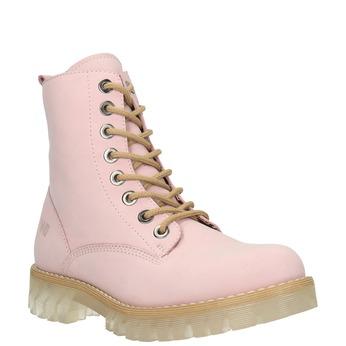 Kožená šnurovacia obuv na priehladnej podrážke weinbrenner, ružová, 596-5639 - 13