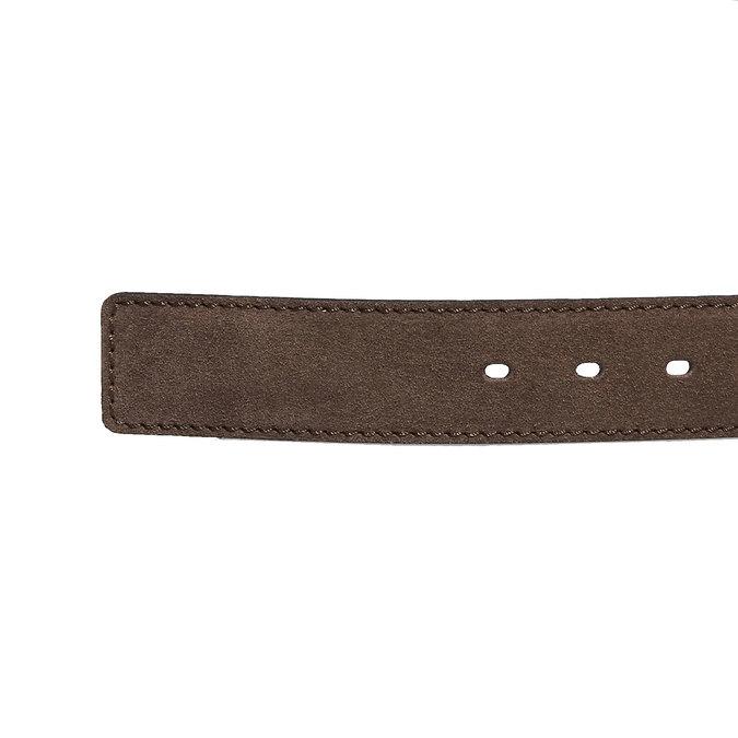 Kožený pánsky opasok bata, hnedá, 953-4106 - 16