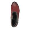 Dámska členková obuv so zateplením bata, červená, 696-5617 - 19