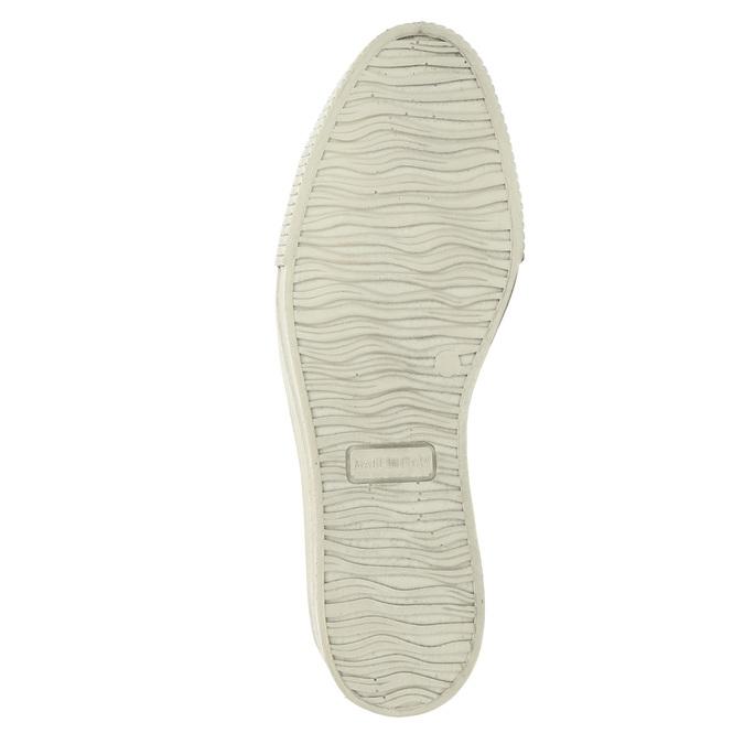 Kožené Slip-on na širokej podrážke bata, fialová, 526-5605 - 26