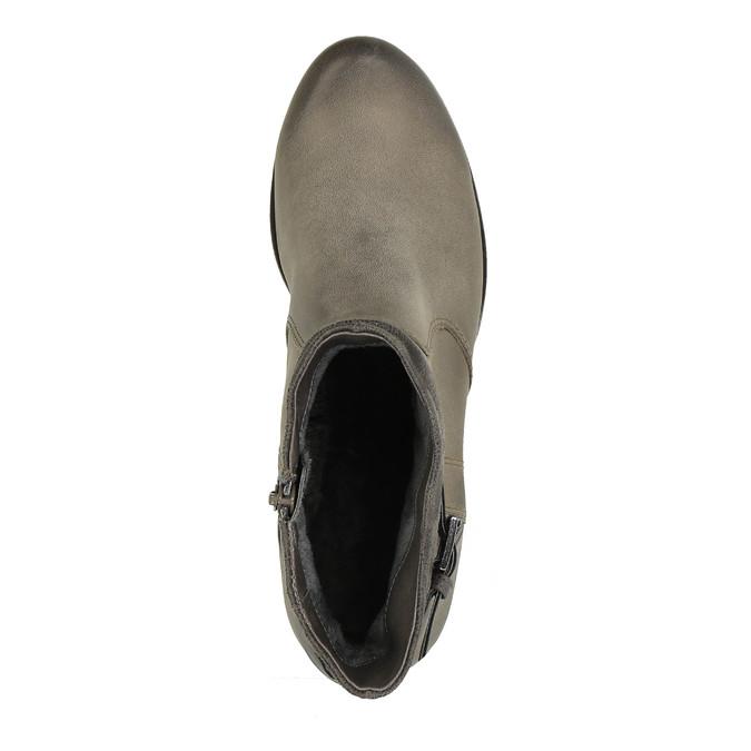Dámska členková obuv bata, šedá, 696-2617 - 19
