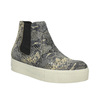 Kožená členková obuv na širokej podrážke bata, šedá, 596-2626 - 13
