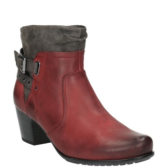 Dámska členková obuv so zateplením bata, červená, 696-5617 - 13