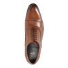 Hnedé kožené poltopánky v Oxford strihu bata, hnedá, 824-3680 - 19