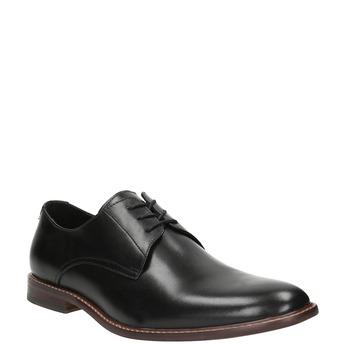 Čierne kožené poltopánky s výrazným obšitím bata, čierna, 824-6684 - 13
