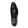 Pánské kožené poltopánky so zdobenou špičkou bata, čierna, 824-6689 - 19