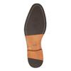 Čierne kožené poltopánky s ležérnou podrážkou bata, čierna, 824-6679 - 26