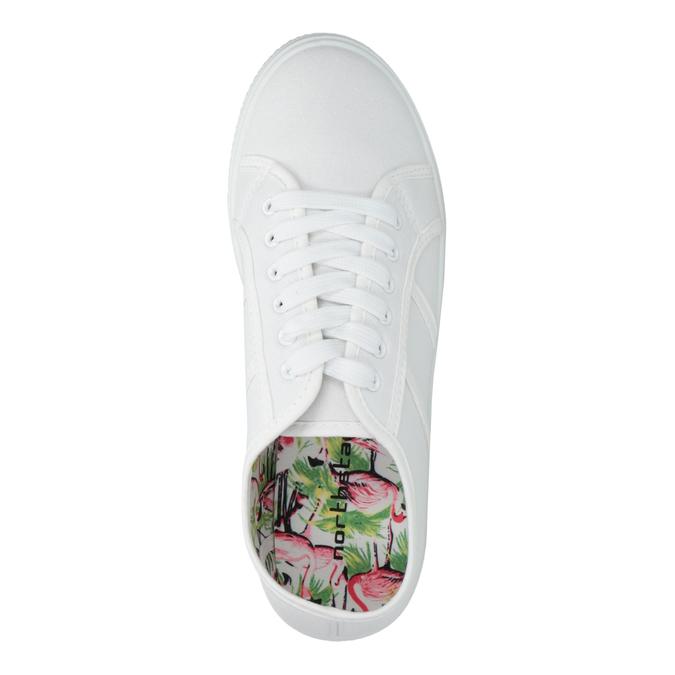 Biele dámske tenisky bata, biela, 529-1630 - 19